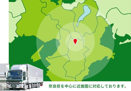 奈良県を中心に近畿圏に対応しております。